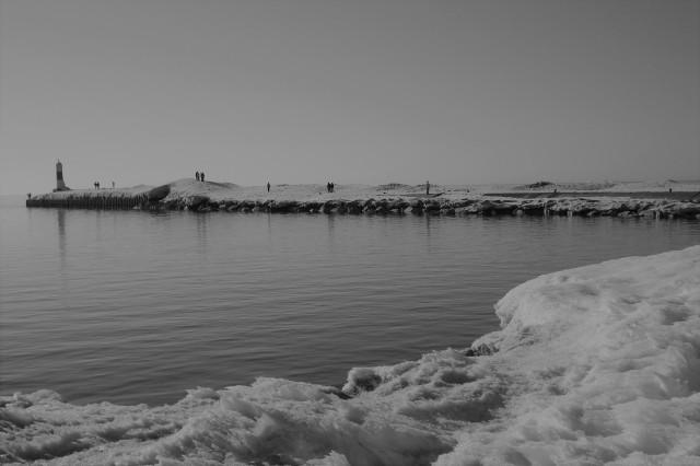 Pier in den Lake Michigan